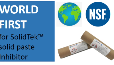 A World-First for SolidTek™ as Inhibitor achieves NSF International CIAS certification